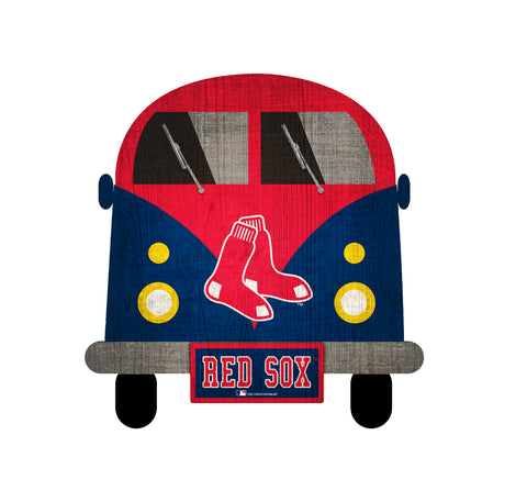 Boston Red Sox Wagon Bus Wall Decor - Blazin' Buddy