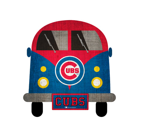 Chicago Cubs Wagon Bus Wall Decor - Blazin' Buddy