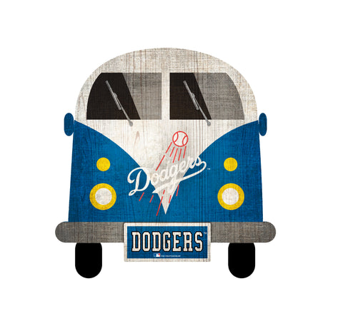 Los Angeles Dodgers Wagon Bus Wall Decor - Blazin' Buddy