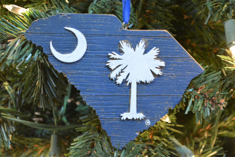 South Carolina Wood State Map Ornament - Blazin' Buddy