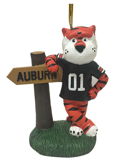 Auburn Tiger Mascot Sign Ornament - Blazin' Buddy