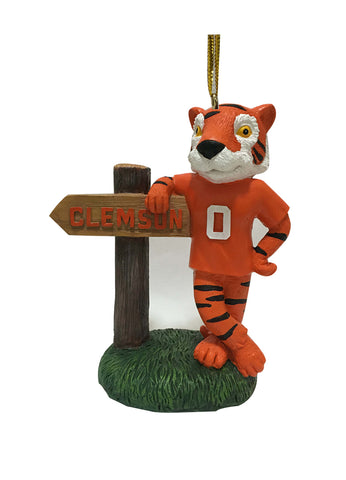 Clemson Tigers Mascot With Sign - Blazin' Buddy