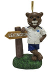 Kentucky Wildcat Mascot Sign Ornament - Blazin' Buddy