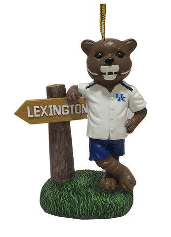 Kentucky Wildcat Mascot Sign Ornament