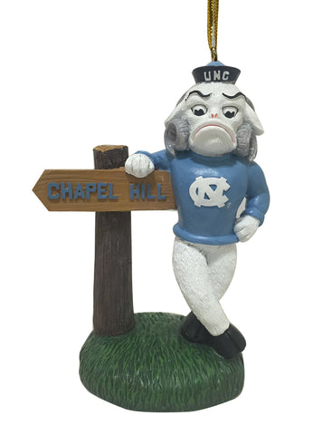 North Carolina Tarheels Mascot Sign Ornament