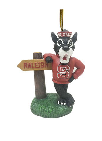 North Carolina State Wolfpack Mascot Sign Ornament