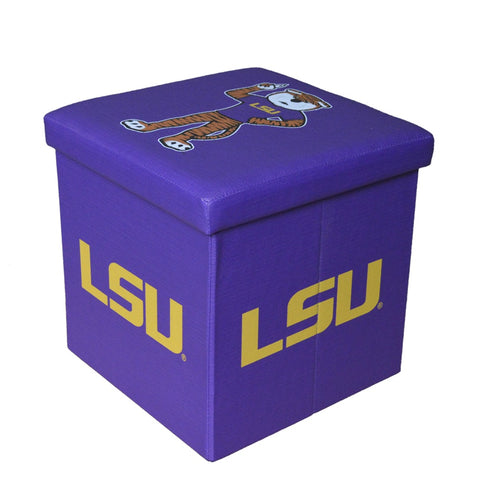 LSU Tigers Square Storage Ottoman - Blazin' Buddy