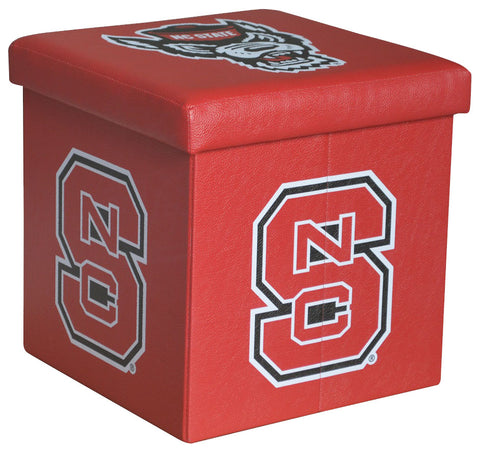 North Carolina State Wolfpack Square Storage Ottoman - Blazin' Buddy