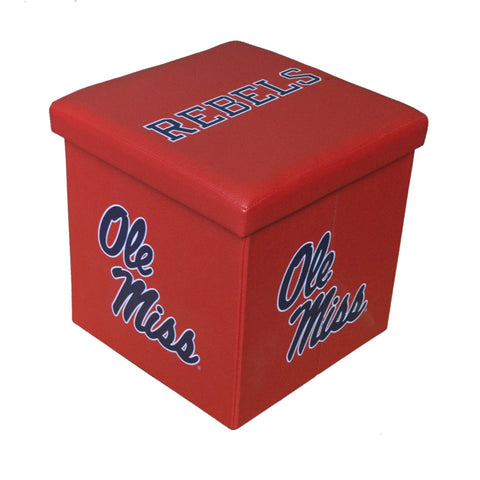 Ole Miss Rebels Square Storage Ottoman - Blazin' Buddy