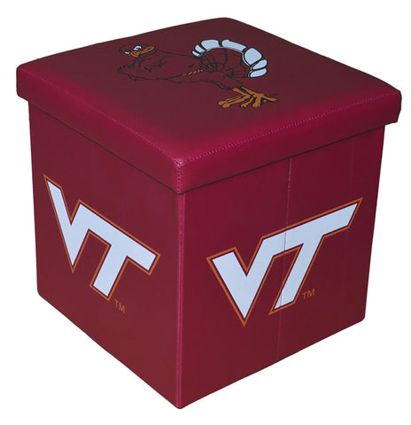 Virginia Tech Hokies Square Storage Ottoman - Blazin' Buddy