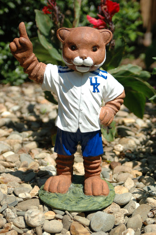Kentucky Wildcat Mascot Painted Garden Statue