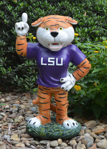 LSU Tigers Mascot Painted Garden Statue