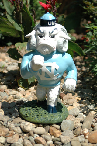 North Carolina Tar Heels Mascot Painted Garden Statue