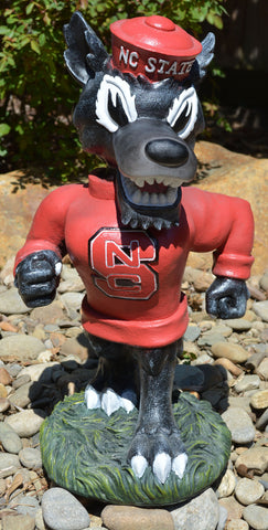 North Carolina State Wolfpack Mascot Painted Garden Statue