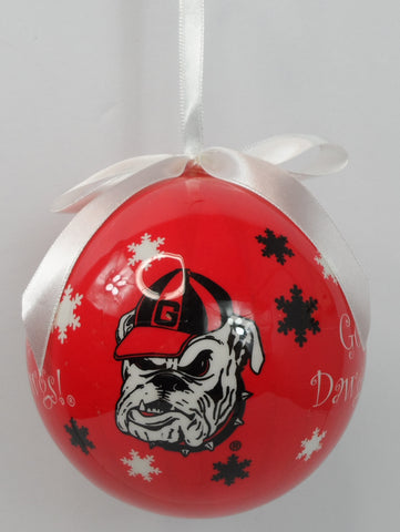 Georgia Bulldogs Snowflake Ornament - Blazin' Buddy