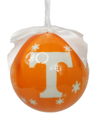 Tennessee Volunteers Snowflake Ornament - Blazin' Buddy
