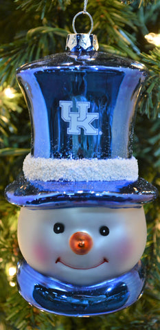 Kentucky Wildcats Glass Snowman Ornament - Blazin' Buddy