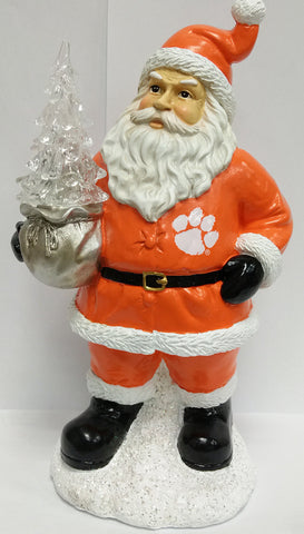 Clemson Tigers Santa With Tree