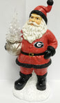 Georgia Bulldogs Santa With Tree - Blazin' Buddy