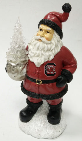 South Carolina Gamecocks Santa With Tree