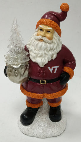Virginia Tech Hokies Santa With Tree - Blazin' Buddy