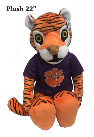 "Clemson Tigers 22"" Plush Tiger Stuffed Mascot"