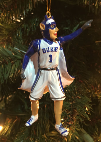 Duke Blue Devils Mascot Ornament - Blazin' Buddy