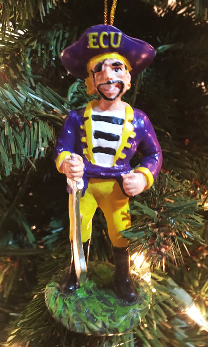 East Carolina Pirates Mascot Ornament - Blazin' Buddy