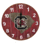 South Carolina Gamecocks Rustic State Wall Clock - Blazin' Buddy