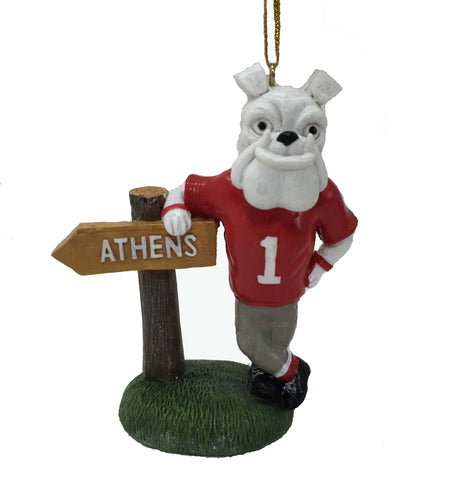 Georgia Bulldogs Mascot Sign Ornament