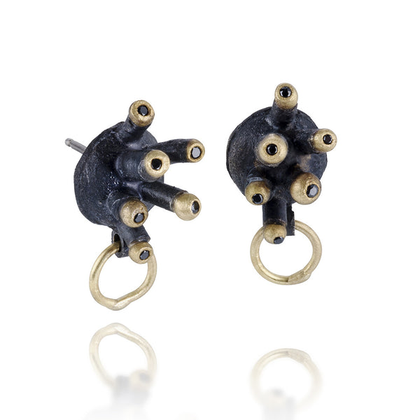 Under Construction Hive Studs-black Diamonds