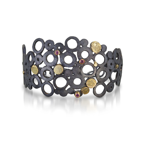 Pebbles and Stones Cuff Bracelet