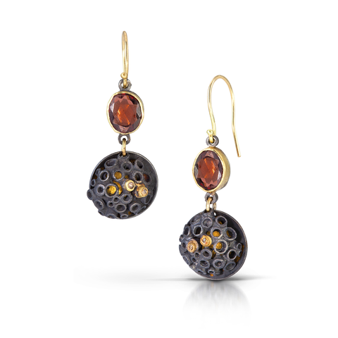 Bejeweled Hive Earrings