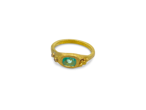 Paraiba Tourmaline Bubble Ring