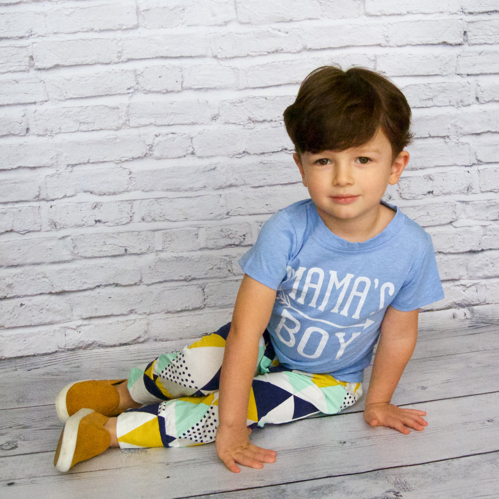 141ae30b6f93 Baby Boy 2 Piece Outfit Top and Bottom Set - Baby Blue Mama s Boy ...