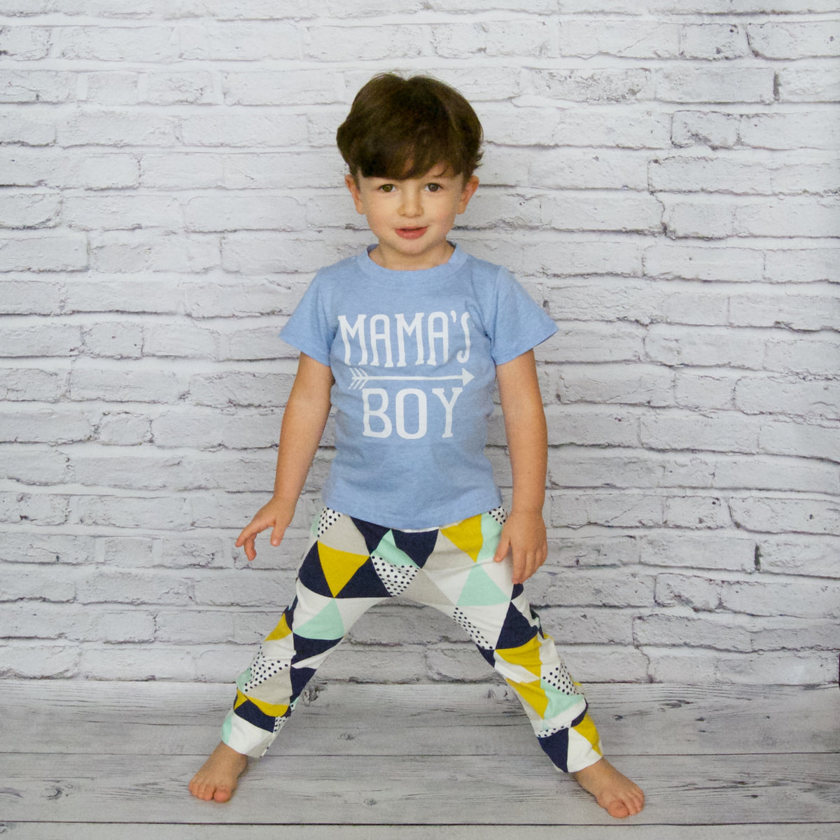 bd4a447e77f4 Baby Boy 2 Piece Outfit Top and Bottom Set - Baby Blue Mama s Boy – Wee  Tribe Kids