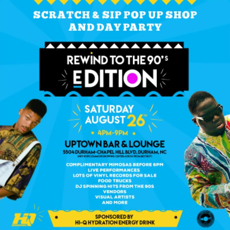 Scratch & Sip Popup Shop And Day Party