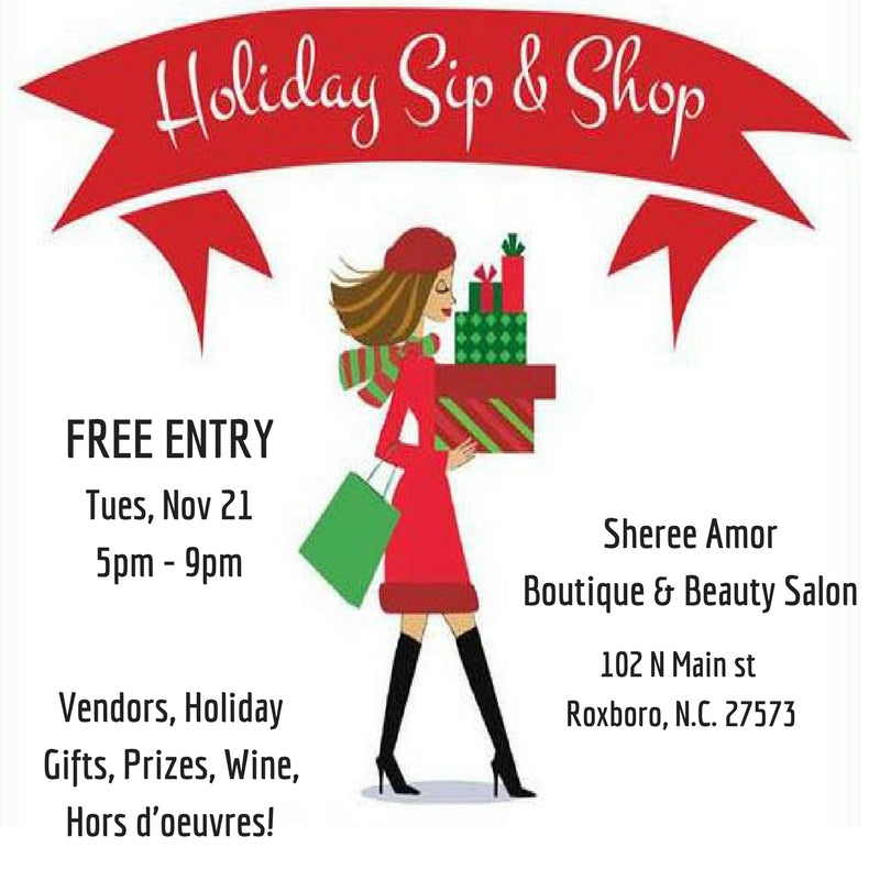 Sheree Amor Holiday Sip & Shop