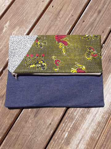 Brazarr Denim Clutch