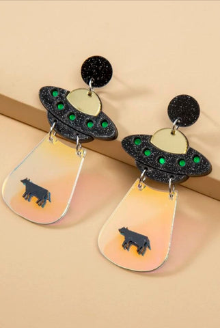 UFO Alien Earrings