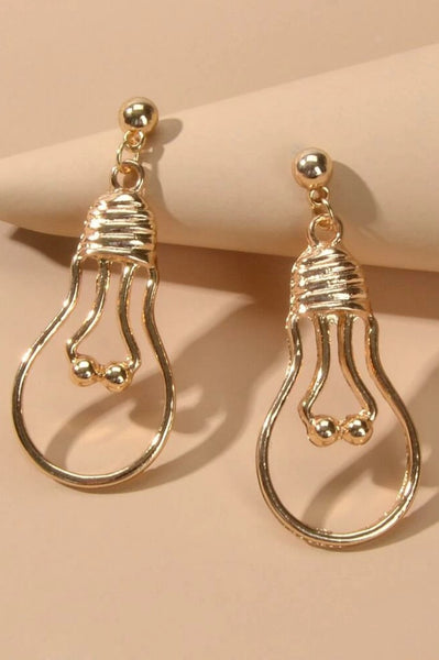 Be The Light of The World Gold Earrings