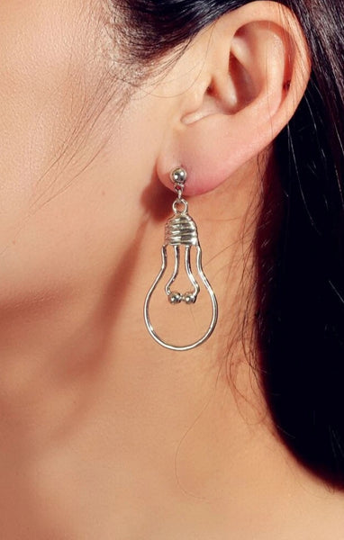Be The Light of The World Silver Earrings