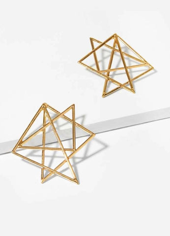 Geo Origami Earrings