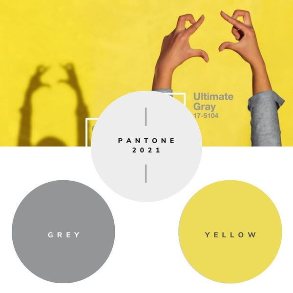 Pantone Color of the Year 2021 – ULTIMATE GREY AND ILLUMINATING YELLOW