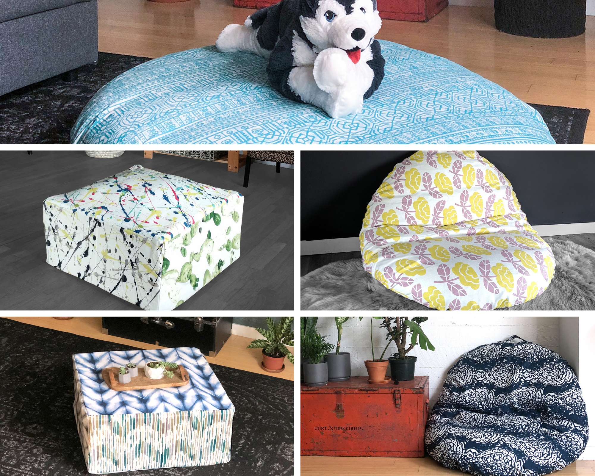 c: Floor Pouf and Beanbag Covers