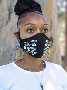 Pack of BLACK LIVES MATTER Face Masks, Unisex, Washable, Reusable, Double Layer for Smog, Pollen, Dust, Smoke