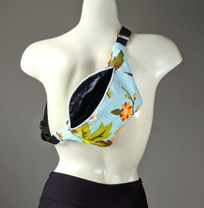 Pretty Blue Floral Fanny Pack