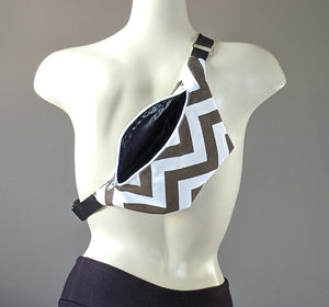 Brown Chevron Fanny Pack
