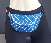 Load image into Gallery viewer, Cobalt Blue Chevron Fanny Pack