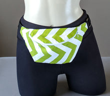 Load image into Gallery viewer, Green Chevron Fanny Pack
